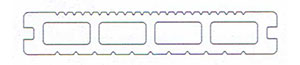 LUNA profil terasovej dosky 25x150